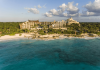 aerial view of hotel xcaret and the ocean