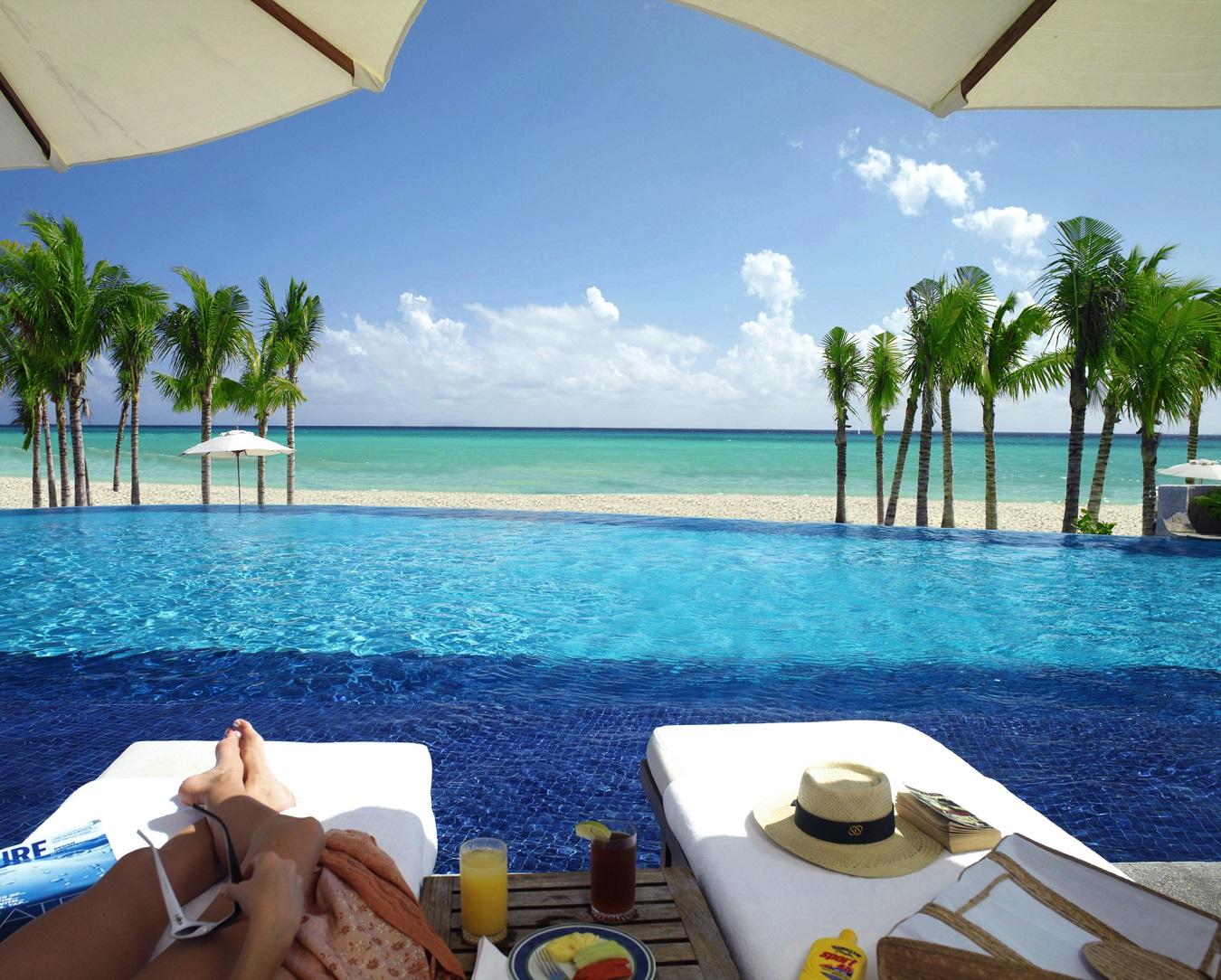 Royal Hideaway pool and beach view