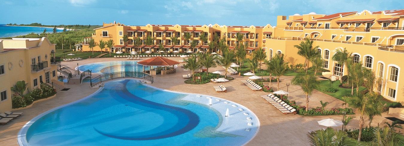 Secrets Capri Riviera Cancun aerial view