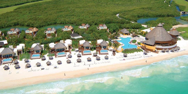 Aerial view Fairmount Mayakoba